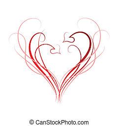 corazones, plano de fondo
