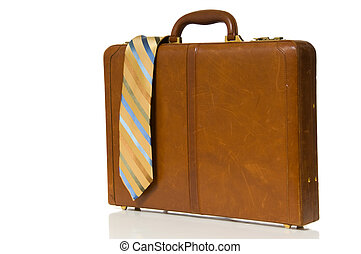 corbata de cuello, maletín