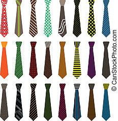 corbata, hombres, ilustración