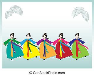 coreano, bailarines