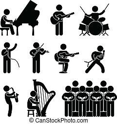 coro, músico, pianista, concierto