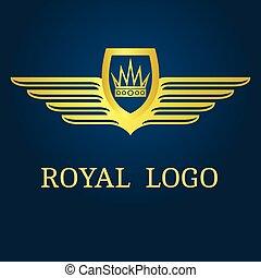 Corona con alas emblemáticas