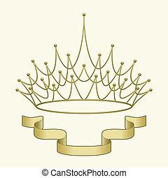 Corona con estandarte