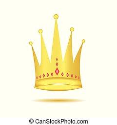 Corona dorada con diamantes