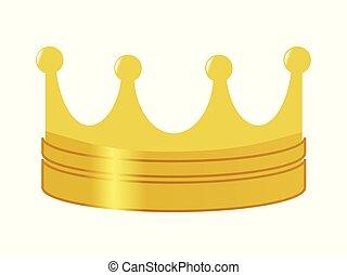 Corona dorada, símbolo de poder