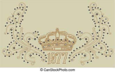 Corona real con pergamino