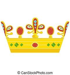 Corona real dorada