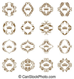 Corona victoriana y elementos decorativos.
