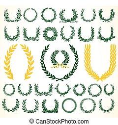coronas, vector, laural, victoria