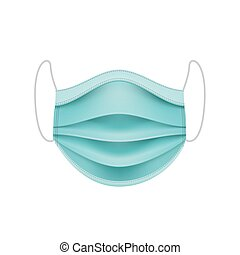 coronavirus, mask., concept., protector, cara