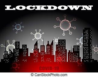 coronavirus, prevenir, outbreak., affects, o, brote, lockdown, economía, corona, extensión, virus, pandemia