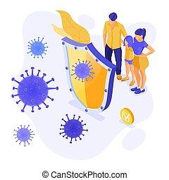 coronavirus, señal, 2019-ncov, parada