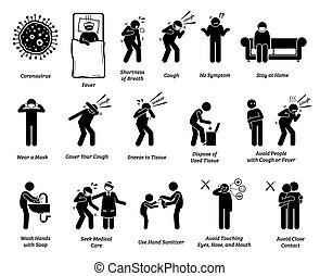 coronavirus, señal, tips., prevención, síntomas