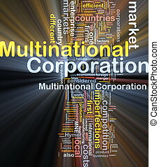 corporación multinacional, encendido, concepto, plano de fondo