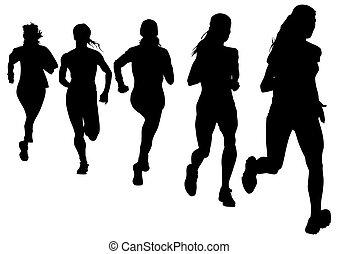 corra, mujeres