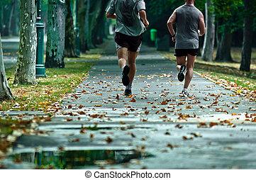 corra, sano, día, vivo, cada, vida, amigos, su