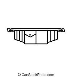 correa de la herramienta, vector, acción, diseño, símbolo, web., símbolo., gráfico, toolbag