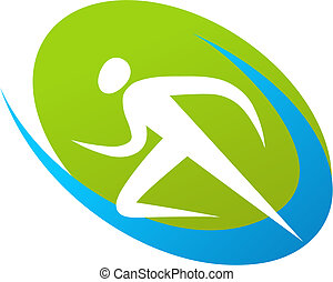 corredor, logotipo, /, icono