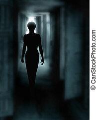 Corredor oscuro
