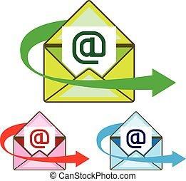 Correo de correo electrónico enviado vector