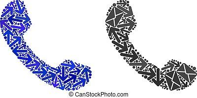 Correo de Mosaic Teléfono iconos