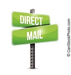 correo, diseño, directo, ilustración, señal