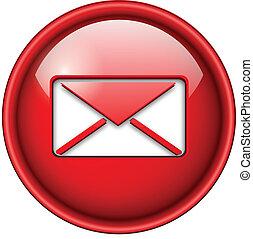 Correo, e-mail icono, botón.