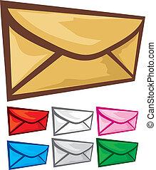 Correo (Envelope) icono listo