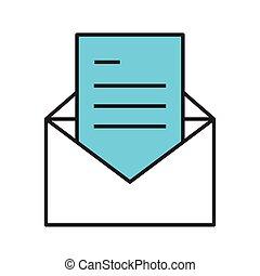 correo, mensaje, carta