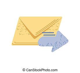 correo, rápido, mensaje