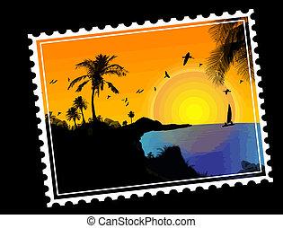 Correos tropicales del paraíso