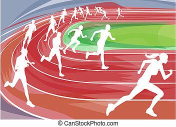 Correr carreras en camino