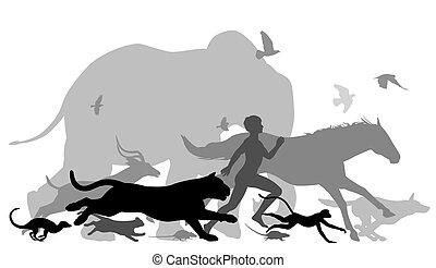 Corriendo con animales