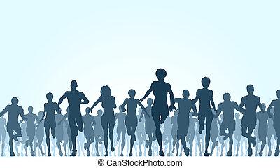 Corriendo multitud