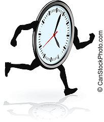 corriente, carácter, reloj