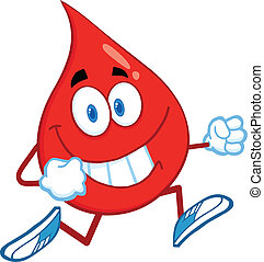 corriente, gota, carácter, sangre, rojo