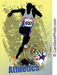 corriente, peop, athletics., cartel