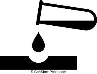 corrosivo, vector, peligro, pictogram, químicos