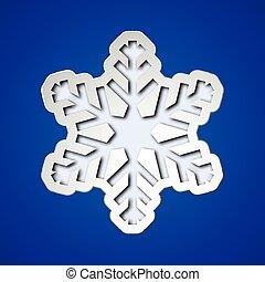 Corta el copo de nieve de Navidad