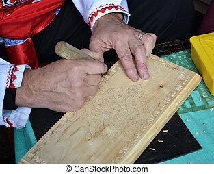 Cortando madera