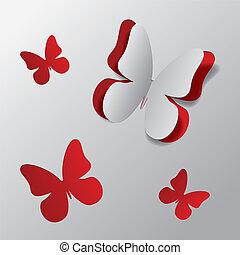Cortar mariposa de papel
