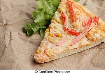 Cortar pizza de rebanada