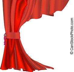 Cortina de terciopelo rojo