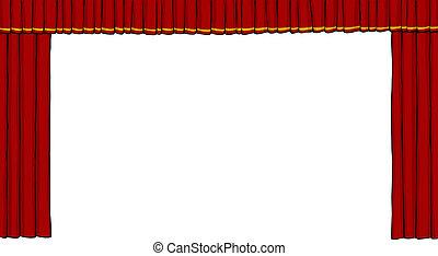 cortina, teatro