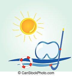 Cosas de iconos de la playa ilustraciones de vectores