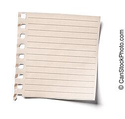 Cosas de oficinas de papel