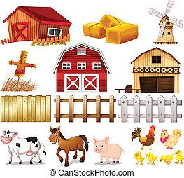 Cosas y animales encontrados en la granja