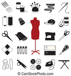 Cosiendo iconos de costura