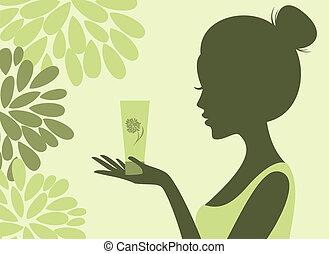 cosméticos, natural