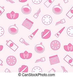 Cosméticos sin manchas rosadas o